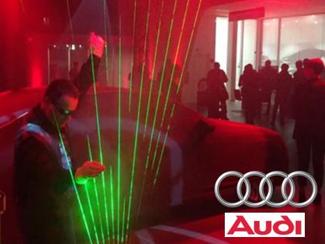 Laser Harp @ Como, presentazione nuova Audi A8