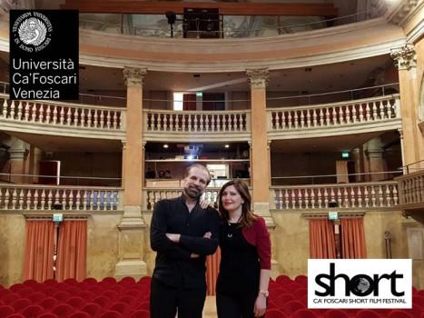 Carlo Truzzi e simona @ Cà Foscari Venice Short Film Festival 2018