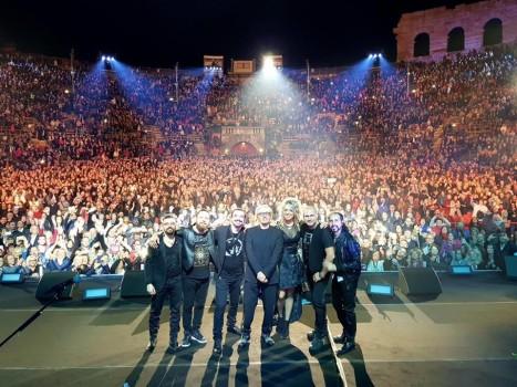 Arena di Verona,  concerto evento per i 40 anni di carriera di Umberto Tozzi. Ottobre 2017.