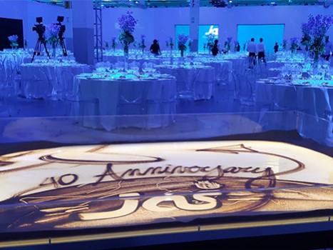Nadia Pretto Sand Artist per l'anniversario di JAS